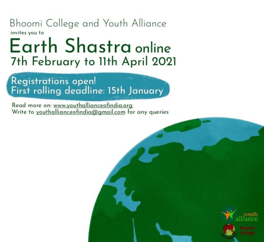 Earth Shastra 2021 by Youth Alliance & Bhoomi College [Online, 10 Weeks]: Register by Jan 15