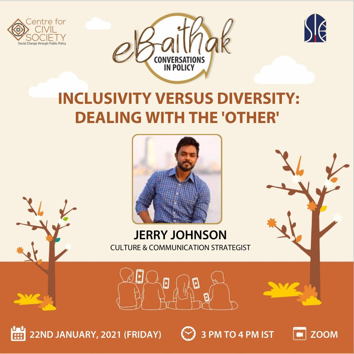 eBaithak: Conversations in Policy with Jerry Johnson on 22nd January 2021 (in collaboration with SIC)