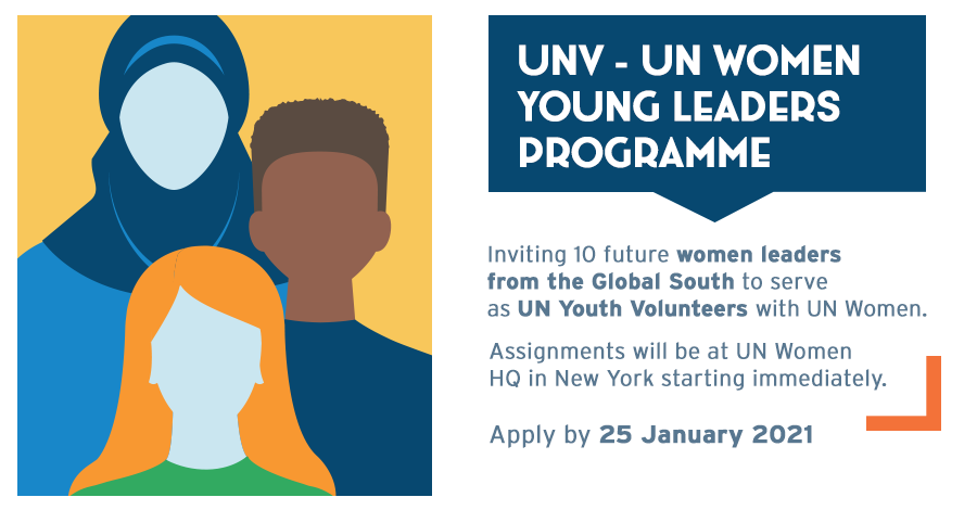 UN Women and UNV Young Women Leaders Programme 2021: Apply by Jan 25