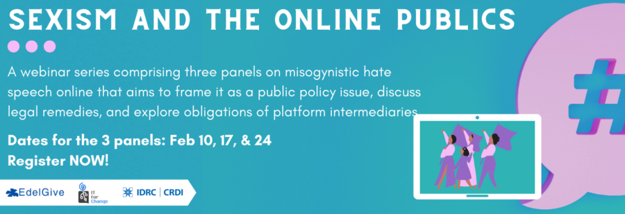 Webinar Series on Sexism and the Online Publics by IT for Change, Bangalore: Register Now!