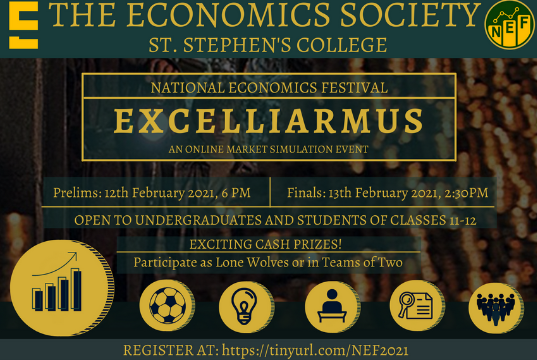 EXCELLIARMUS: Market Trading Event by St. Stephens College, New Delhi [Starts Feb 12, 6:00 PM]: Register Now!