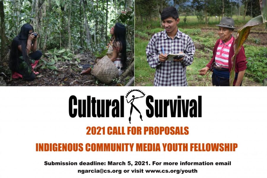 Cultural Survival Indigenous Community Media Youth Fellowship 2021 [Grant Amount Upto Rs.1 L]: Apply by March 5