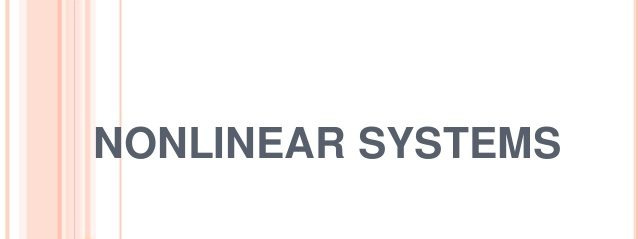 Online FDP Nonlinear Systems NIT Silchar 2021