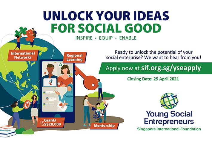 SIF's Young Social Entrepreneurs (YSE) Global 2021 [Fully Funded + Grant Amount Upto Rs. 10 L]: Apply by April 25