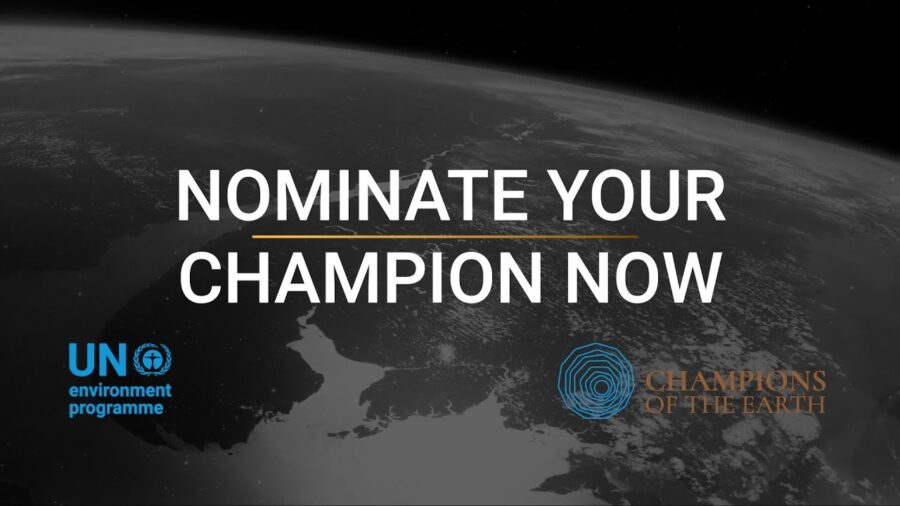 Call for Nominations: UNEP Champions of the Earth Award 2021: Register by Feb 12