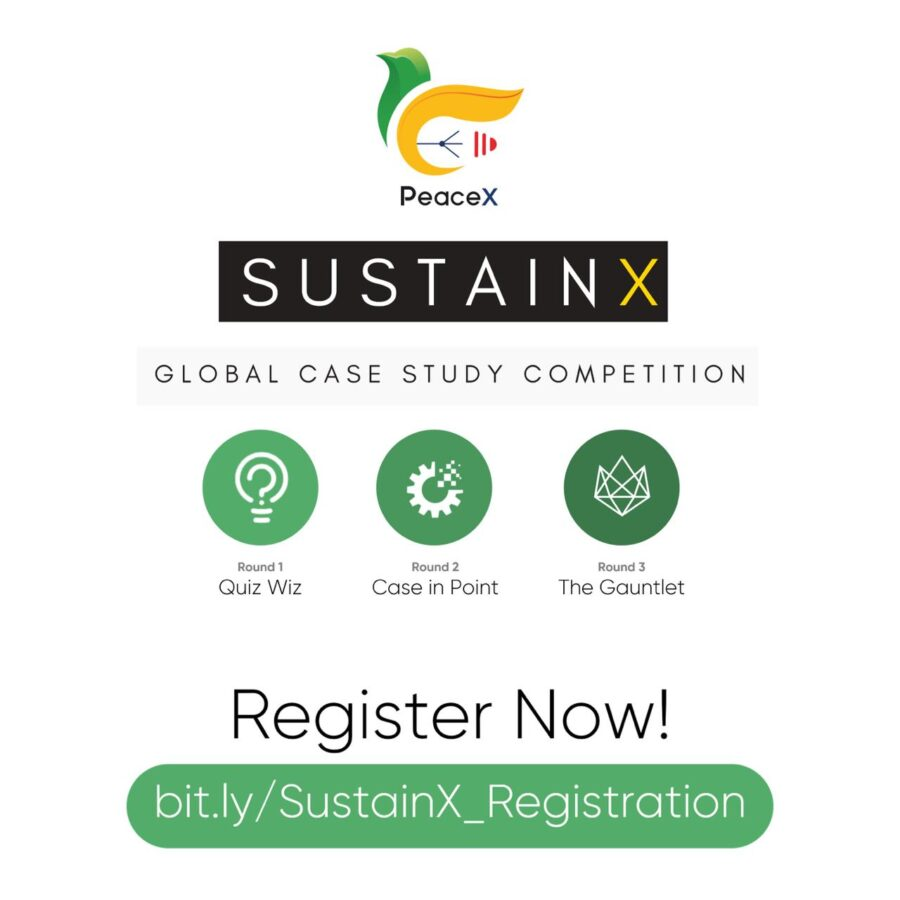 SustainX: Global Case Study Competition by PeaceX Organisation: Register Now!