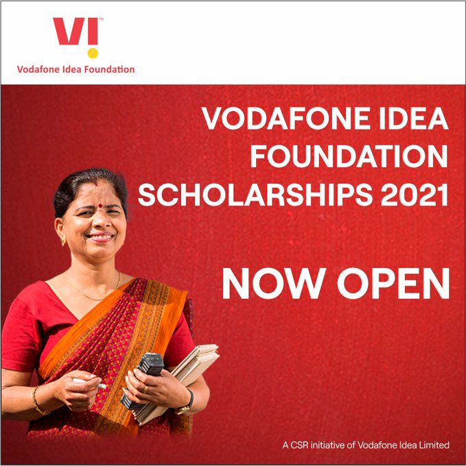 Vodafone Idea Teachers' and Students' Scholarship 2020-21 [Total Scholarship Amount Rs. 7 Cr]: Apply Now!