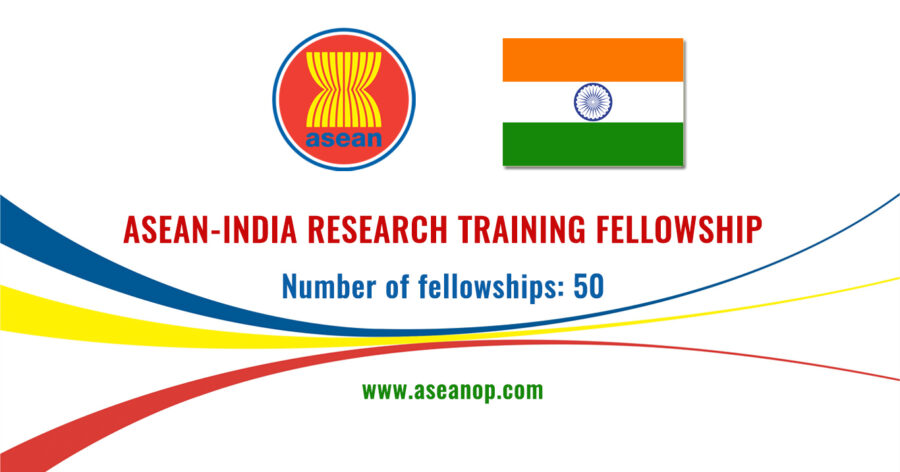 Asean-India Research Training Fellowship (AI-RTF) 2021 by DST [50 Positions]: Apply by Sep 30