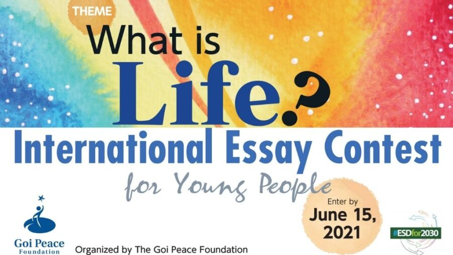 Goi Peace Foundation International Essay Contest for Young People 2021