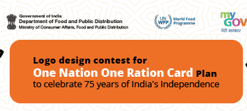 Logo Design Contest for One Nation One Ration Card Plan by Govt of India [Cash Prize of Rs. 50k]: Submit by May 31
