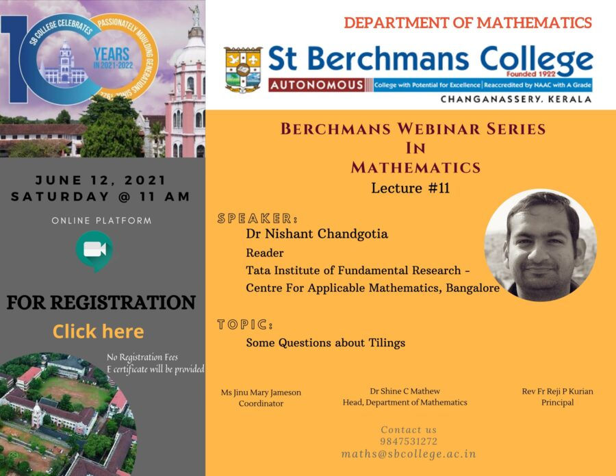 Berchmans Lecture Series in Mathematics Lecture