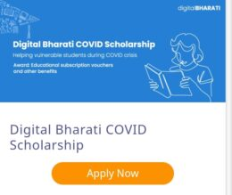 Digital Bharti Covid Scholarship 2021 for Students who lost their Parents: Apply Now