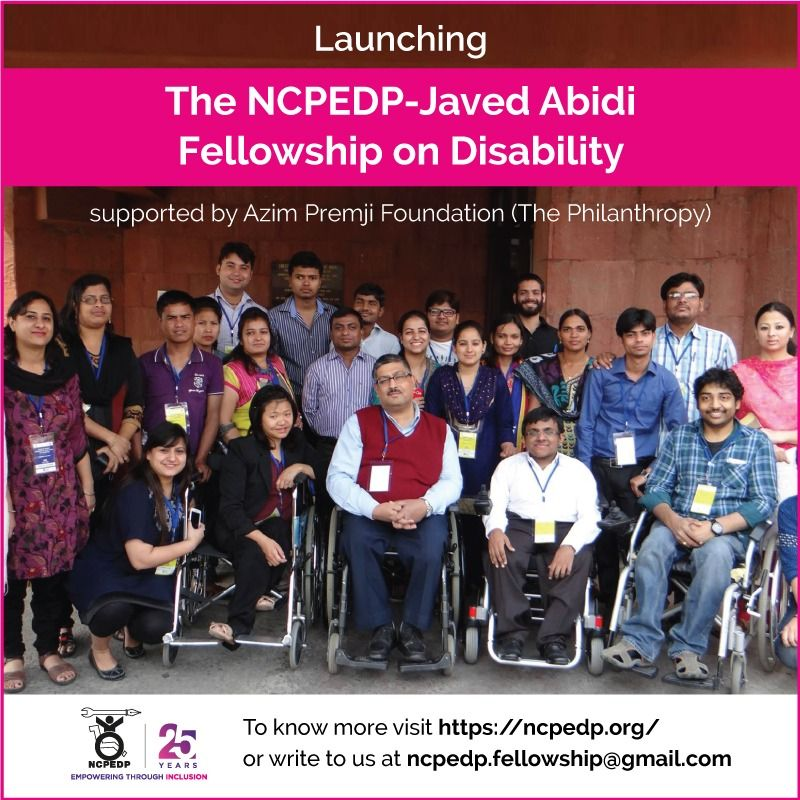 NCPEDP – Javed Abidi Fellowship on Disability 2021 1