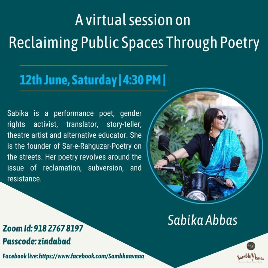 Virtual Session on Reclaiming Public Spaces Through Poetry