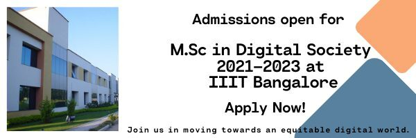 Master's Program in Digital Society by IIIT Bangalore