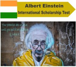 Albert Einstein International Scholarship Test 2021 for School and College Student [Prizes Upto Rs. 1.70 L]: Apply by Dec 31