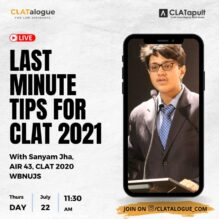 Last Minute Tips for CLAT 2021 Exam: Join CLATalogue's Instagram Live! [July 22, 11.30 AM]