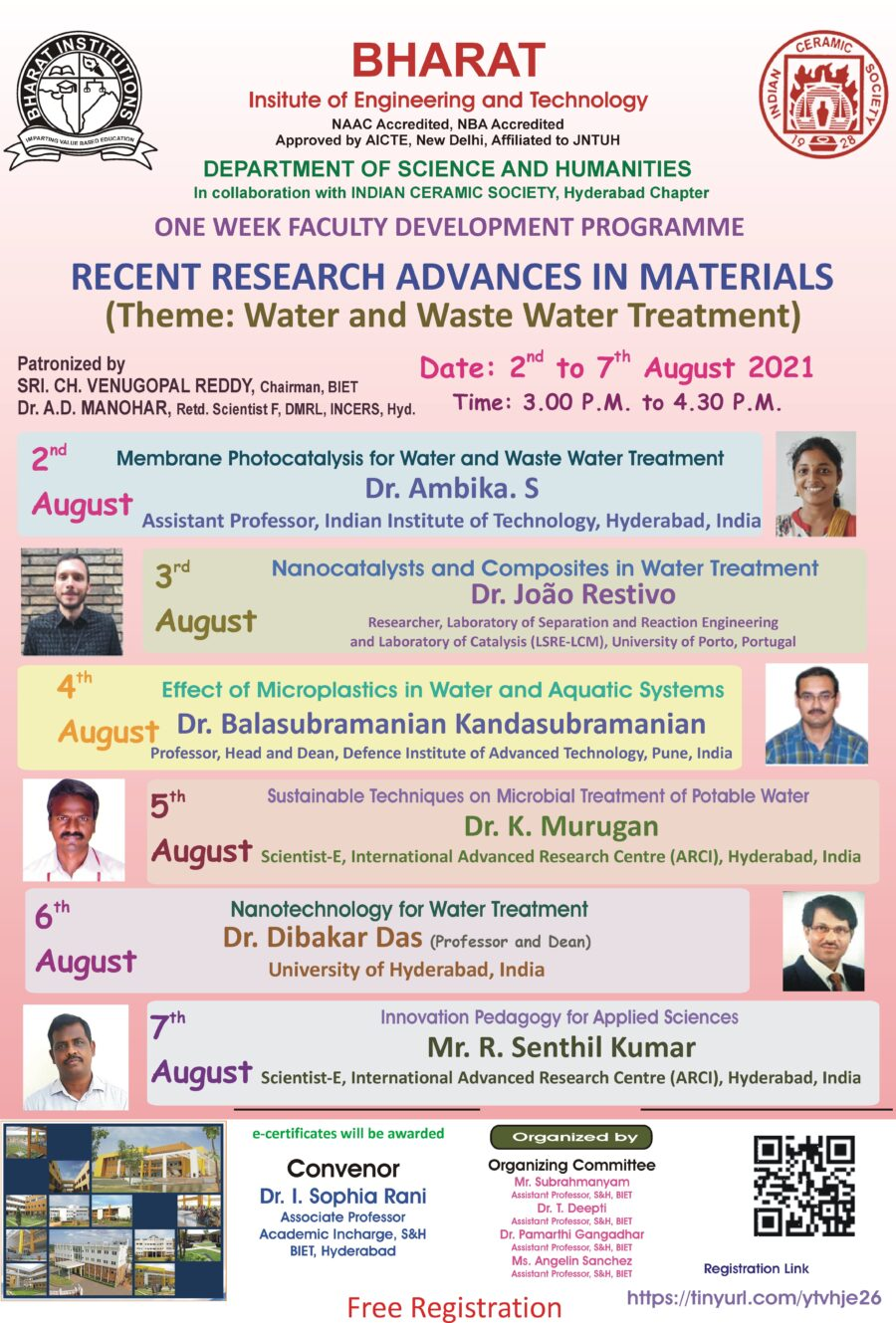 FDP on Recent Advances in Materials BIET and INCERS 1 1