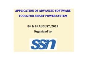 Workshop on Application of Advanced Software Tools for Smart Power System @ SSN College of Engineering