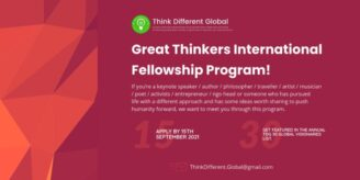 Great Thinkers International Fellowship 2021 Program by Think Different Global: Apply by Sep 15: Expired