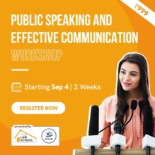 Public Speaking and Effective Communication Workshop by Lawctopus Law School & Aawaaz [Sep 4- Sep 12]: Register Now!