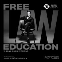 Sonu Sood Free Law Education/ CLAT Coaching & Other Law Entrance Exams 2021: Apply Now