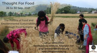 Workshop on Thought for Food by Sambhaavnaa Institute, Himachal Pradesh [Sep 26-30]: Register Now!