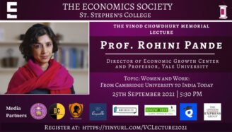 The 14th Vinod Chowdhury Memorial Event by The Economics Society, St. Stephen's College [Sept 18-26]: Register Now!