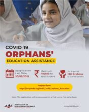 AMP COVID-19 Orphans' Education Assistance for School Students [Class 1-10; 100 Slots; Support Rs. 10k]: Apply by Sep 30: Expired