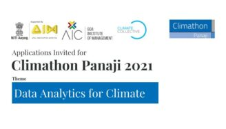 Climathon Panaji 2021: Hackathon onData Analytics for Climate Action [Oct 23-30]: Register by Oct 10: Expired