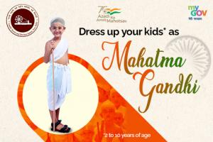 Dress Up Your Kids as Mahatma Gandhi Contest by MyGov [Age 2-10 Years, Win Exciting Prizes]: Submit by Jan 15