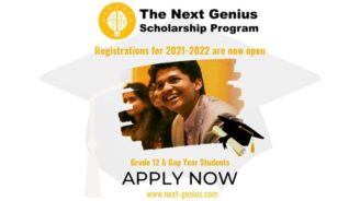 The Next Genius Scholarship Program 2021-22 for Class 12 Students: Apply by Oct 12: Expired