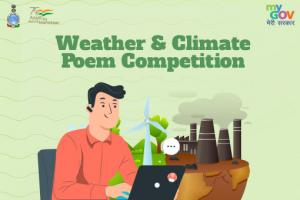 Weather & Climate Poem Competition 2021 by MyGov [Cash Prizes of Rs. 6k]: Submit by Nov 23